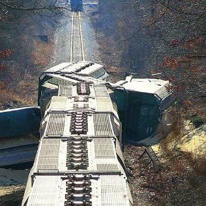 derailed train that injured employees